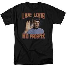 Star Trek Retro Sci-Fi Spock Live Long and Prosper graphic t-shirt CBS114 image 1