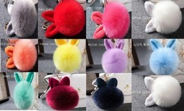 1pcs keyrings Keys handbags pendants for women dear rabbit fur - $4.99