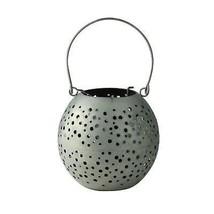 """Kaemingk 6.25"""" Botanic Beauty Gray Zinc Cut-Out Candle Holder Lantern - $21.77"""