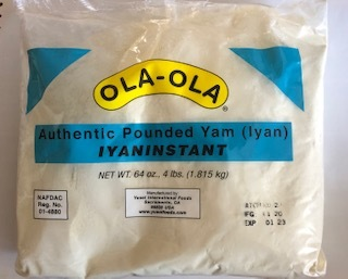 Ola Ola Authentic Pounded Yam Iyan Instant (4Lbs)