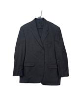 Chaps Ralph Lauren Mens Gray Four Button Houndstooth Coat Blazer Jacket Size 32 - $27.52