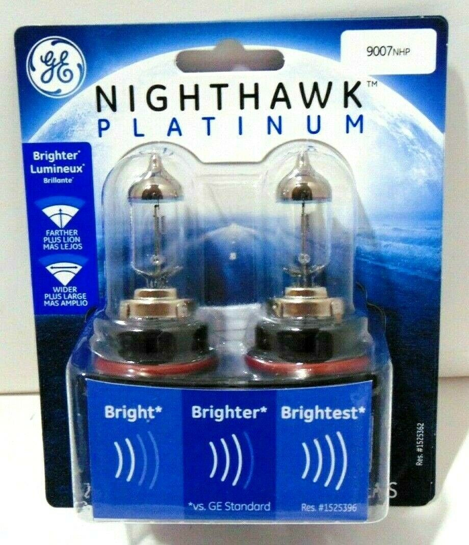 Primary image for GE Headlight Bulb Nighthawk Platinum Halogen Headlamps New In Package 9006NHP