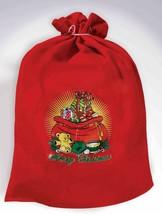 Red Santa's Toy Bag Santa Claus Costume Accessory Sack Christmas Elf Workshop - $7.55