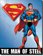 Superman Man of Steel DC Universe Villains and Super Hero Metal Sign - $20.95