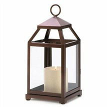 Bronze Metal Contemporary Candle Lantern - $17.71