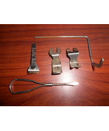5 Rotary Access.: Cutting Gauge,Stitch Guide,Screw Driver,Shirring & But... - $15.00