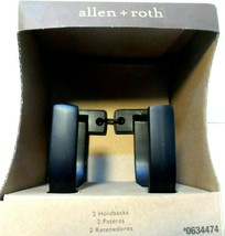 Allen + Roth  Set of 2 Aged Bronze Curtain Holdbacks #0634474 NEW - $24.17