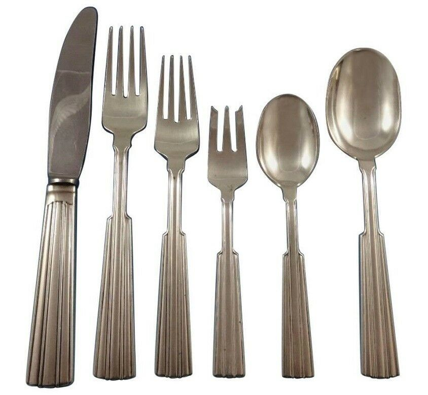 Primary image for Fontaine by O. Mogensen Danish Sterling Silver Flatware Set Hand Wrought 36 Pcs