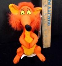 "Disney Store Bean Bag Plush FOX Mary Poppins Stuffed Animal NEW Orange 7"" - $7.91"