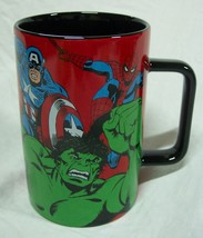 "Disney Store MARVEL CHARACTERS THE AVENGERS 5"" CERAMIC MUG NEW Iron Man ... - $19.80"