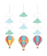 Up, Up & Away Hot Air Balloon Shower Birthday Party Decoration Hanging C... - $9.17