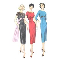 1950s Vintage Simplicity Sewing Pattern 1797 Misses Sheath Dress Short S... - $29.95
