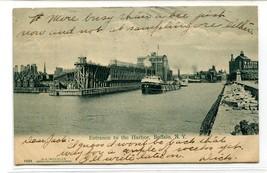 Steamer Harbor Entrance Buffalo New York 1907 postcard - $6.88