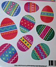 Easter Static Window Clings 9 Decorated Eggs New - $8.42