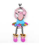 dance mouse necklace pendant acrylic  2015 news accessories spring summe... - $12.54