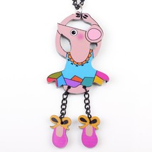 dance mouse necklace pendant acrylic  2015 news accessories spring summer cute d - $12.54
