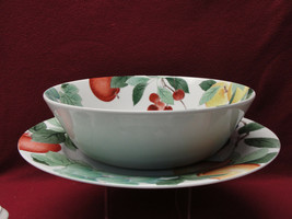 STUDIO NOVA CHINA - ORCHARD JEWELS - ROUND SERVING BOWL & PLATTER - $38.95
