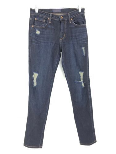Primary image for James Jeans Women's Size 27 James Twiggy Jeans Dark Wash Denim Distressed