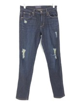 James Jeans Women's Size 27 James Twiggy Jeans Dark Wash Denim Distressed  - $37.39