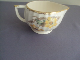 Vintage Limoges USA Creamer Yellow Daisy 22 K Gold - $19.99