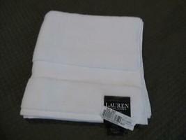 "$27.00 Lauren Ralph Lauren Wescott bath towel 30"" x 56"", Sailcloth White - $11.14"
