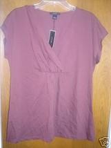 NWT Alfani Womens brown Shirt Large L msrp $49.00 - $24.00
