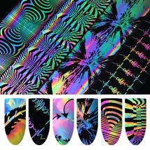 Holographic Nail Art Foil Laser Firework Manicure Transfer Sticker Tool ... - $15.00