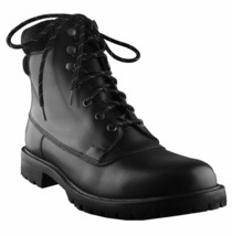 Hunter Mens Ross Black Genuine Leather Combat Ankle Lace Up Work Hiking Boots NW image 1