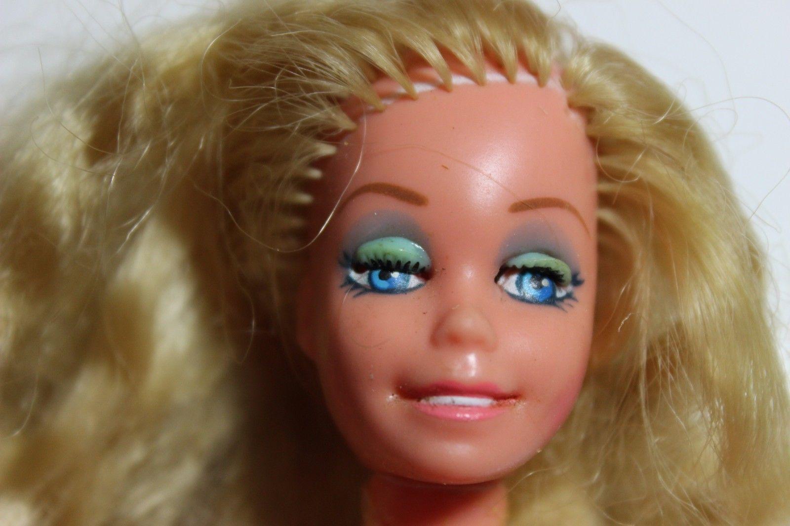 Vintage Barbie Doll country western Mattel Mod Blonde hair Winking Barbie Read - $14.24