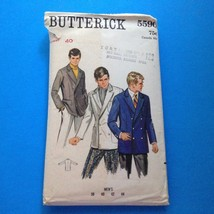 Butterick Sewing Pattern 5590 Vintage Mens Double-Breasted Blazer Jacket... - $19.24