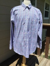 Orvis Algodón Puro Libre-Arruga Detalle Camisa Oxford Talla XL - $19.72