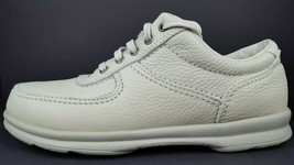 Clarks Women's 9.5 N Cream White Leather Moc Toe Casual Lace Up Oxfords NOS 1998 - $149.25 CAD