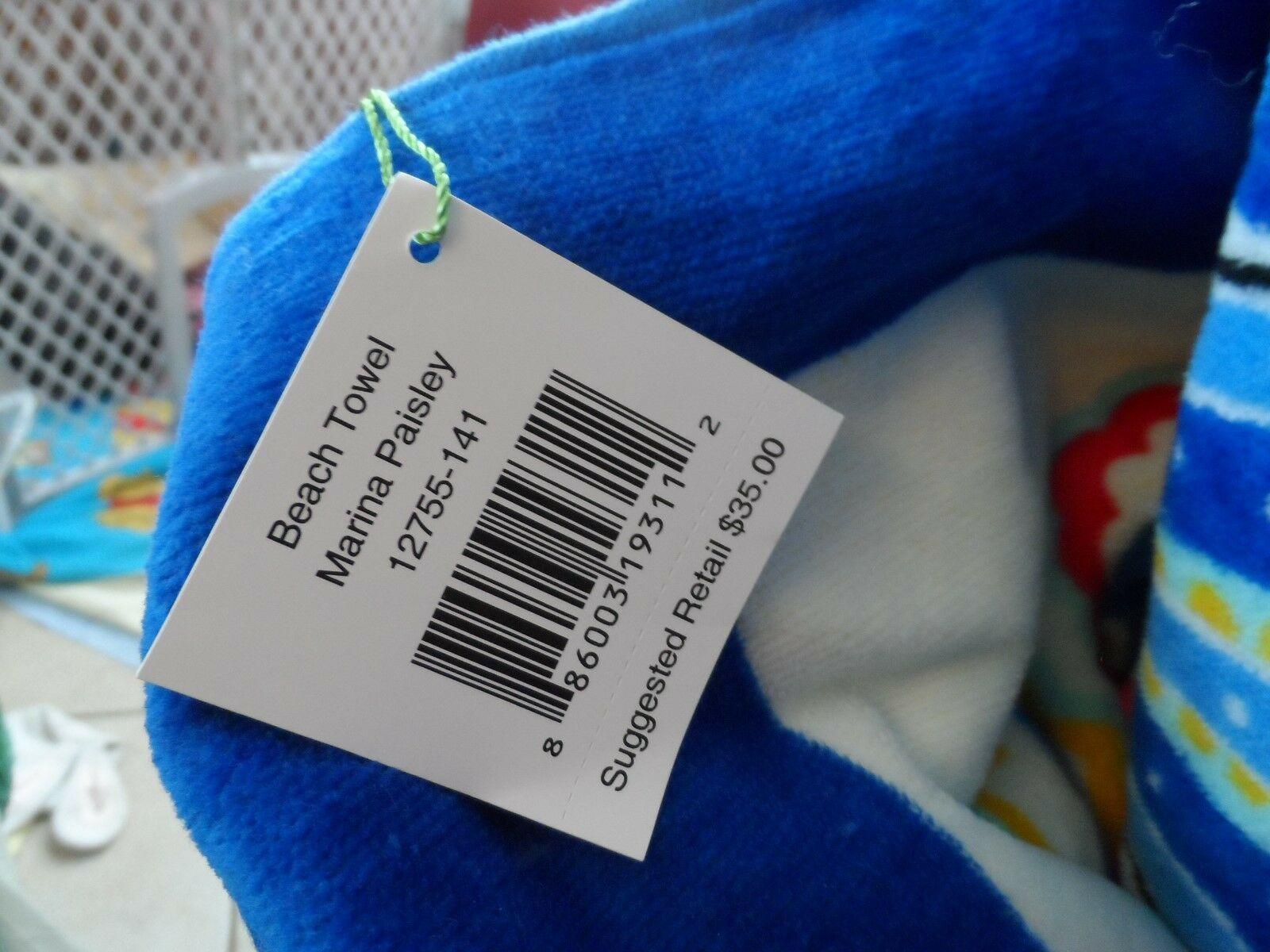 Vera Bradley Marina Paisley beach set - tote, towel, cosmetic, keychain, ID
