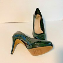 "Vince Camuto Womens Sz 8.5 38.5 Black Patent Leather Heel Pump Shoes 4"" Heel - $42.06"