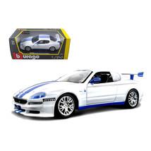 Maserati Trofeo White/Blue 1/24 Diecast Car Model by Bburago 22097bl - $32.30