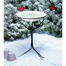 Allied Precision Beige Heated Bird Bath With Stand 20 Inch/150watt - €118,99 EUR