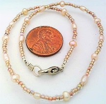 Peach Freshwater Pearl Anklet - $10.09