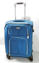 Expandable Upright Travelers Rolling Luggage Blue Travel Packing Space S... - $39.59