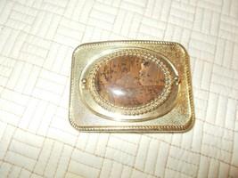VINTAGE 1970s MULTI-COLOR AGATE STONE  BUCKLE Mint condition - $34.65