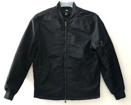 H&M Mens Coat Jacket Black Size Small Double Zipper - $32.18