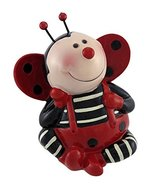 Blowfish Malibu Adorable Sitting Ladybug Coin Bank Money Piggy - $15.98