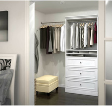 Bestar Audrea 36 inch Organize It Storage Unit With 3 Drawers In White - $647.42