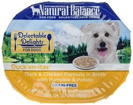 Natural Balance Delectable Delights Wet Dog Food, Duck'En-Itas Duck & Chicken Fo - $69.74