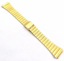 Bulova Gold-Plated Two Piece Metal Bracelet 17mm Vintage 1970s - $99.90