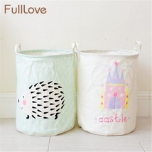 FULLLOVE® Portable Cotton Laundry Storage Basket Foldable Cartoon Hedgehod - $16.99