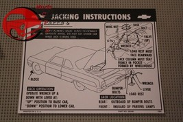 64 Chevy All Passenger Body Styles Jack Instructions Decal - $9.25