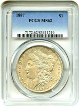 1887 $1 PCGS MS62 - Morgan Silver Dollar - $63.05