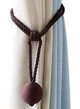 Curtain Straps Simple Cute Hanging Curtain Hook Tied Rope Single Ball Da... - $14.61