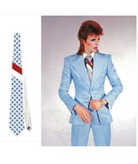 necktie david bowie ziggy stardust starman life on mars polka dots halloween  - $24.00