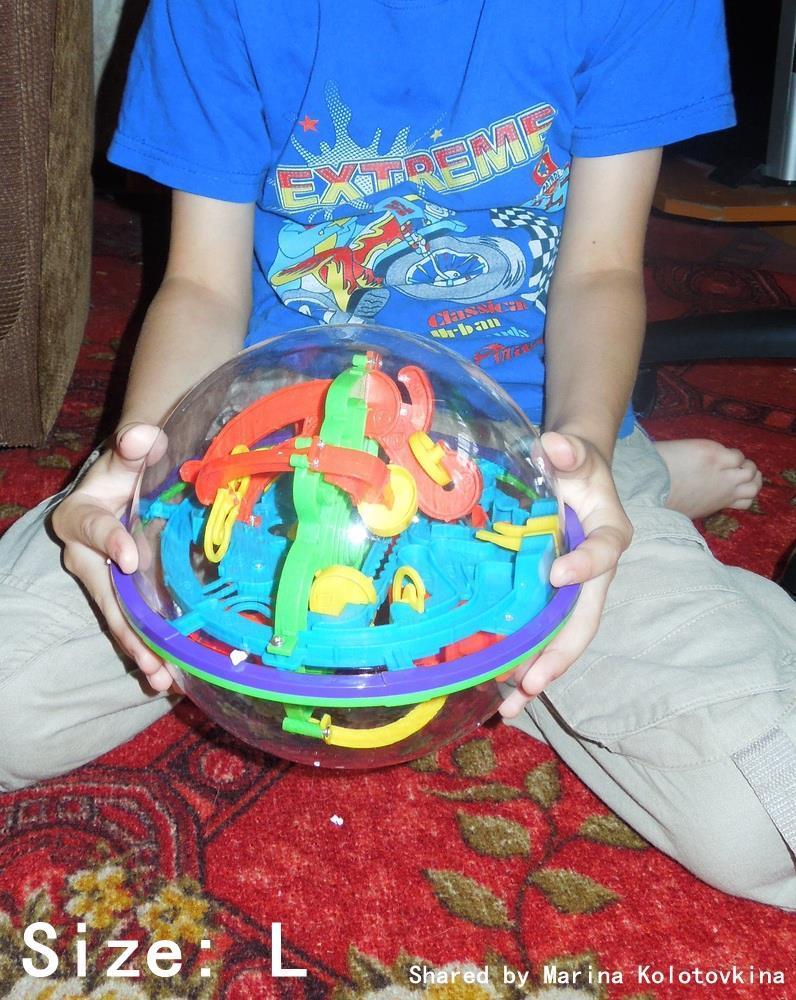 BOHS 100 Steps Small Big Size 3D Labyrinth Magic Rolling Globe Ball Marble Puzzl